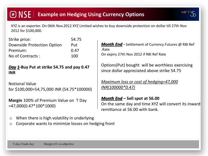 Example on Hedging Using Currency Options