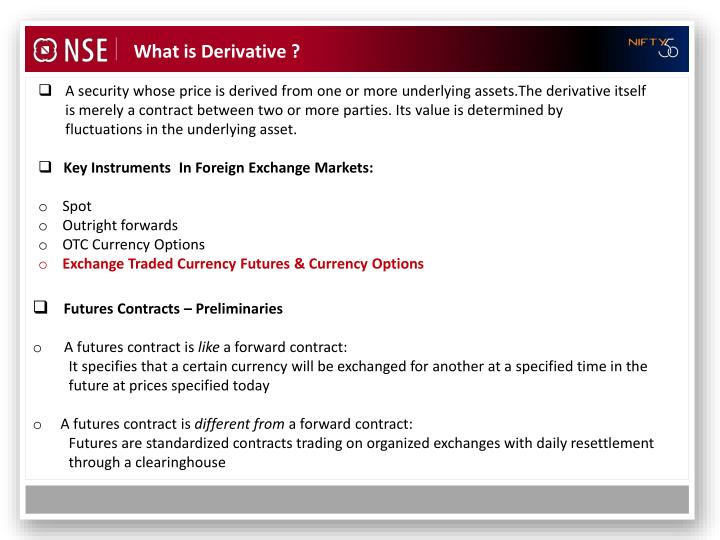 What is Derivative ?