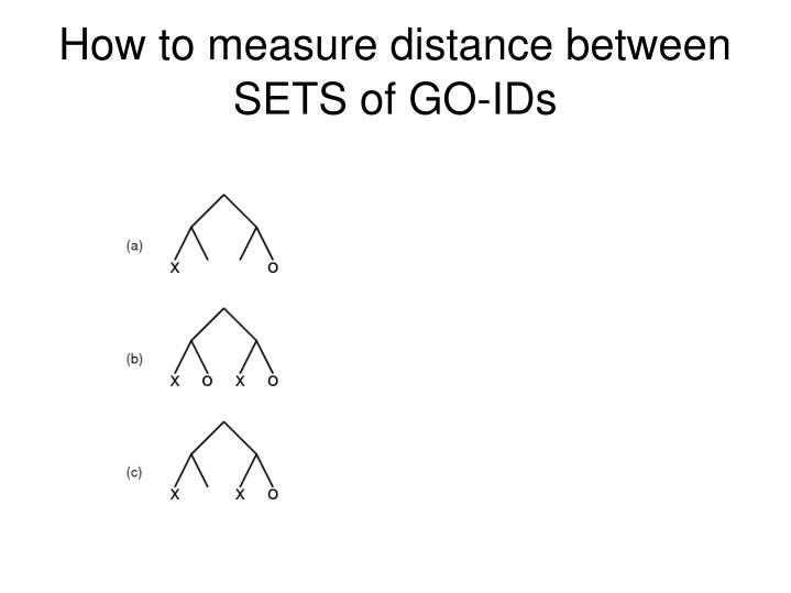 How to measure distance between SETS of GO-IDs