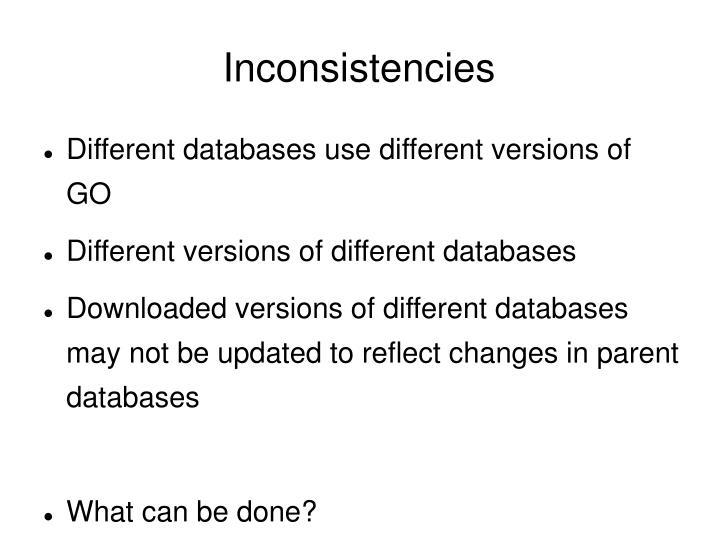 Inconsistencies