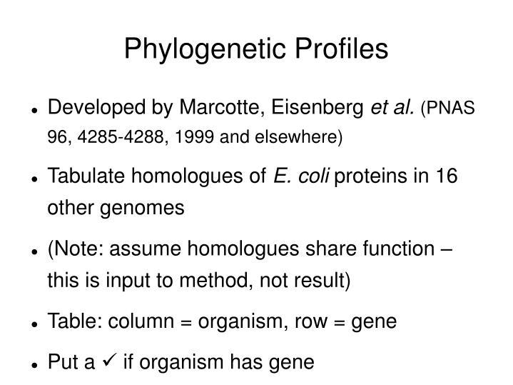 Phylogenetic Profiles