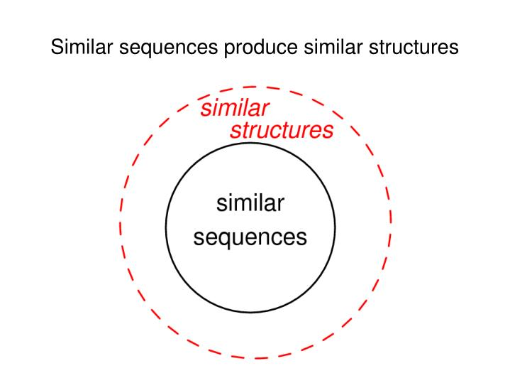 Similar sequences produce similar structures