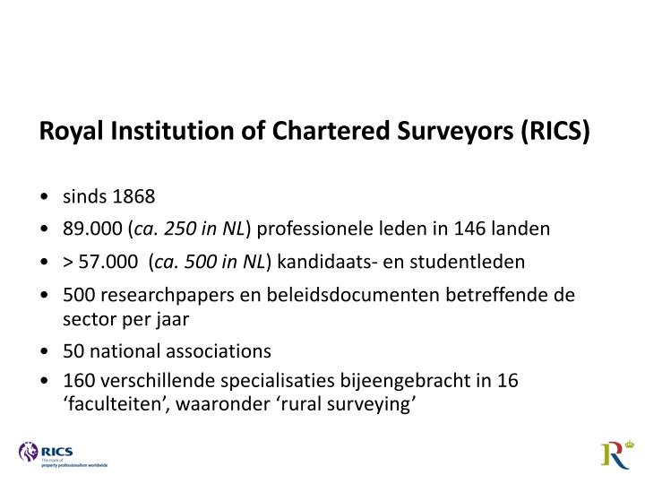 Royal Institution of Chartered Surveyors (RICS)