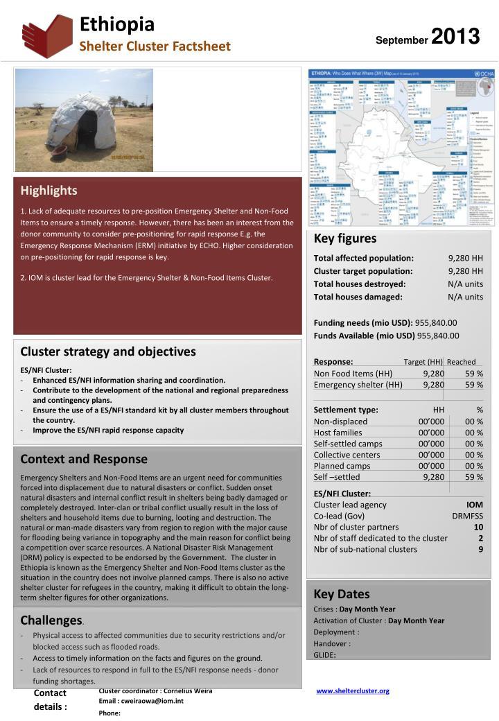 Purpose of the factsheet