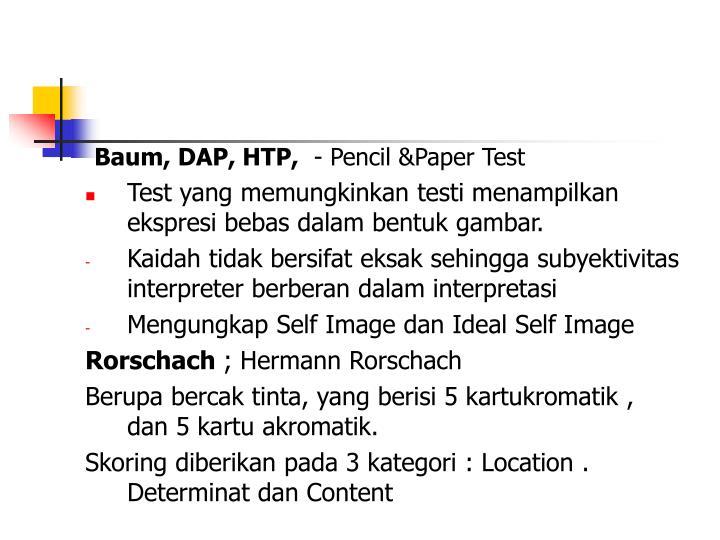 Baum, DAP, HTP,