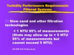 turbidity performance requirements filtered systems1