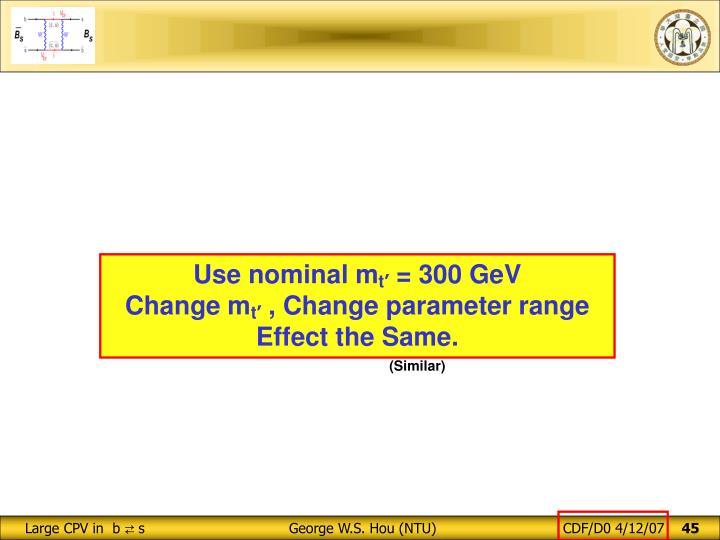 Use nominal m