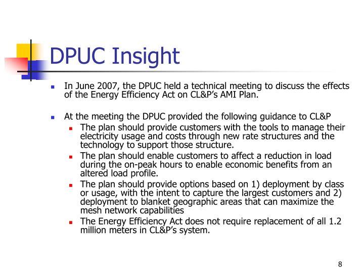 DPUC Insight