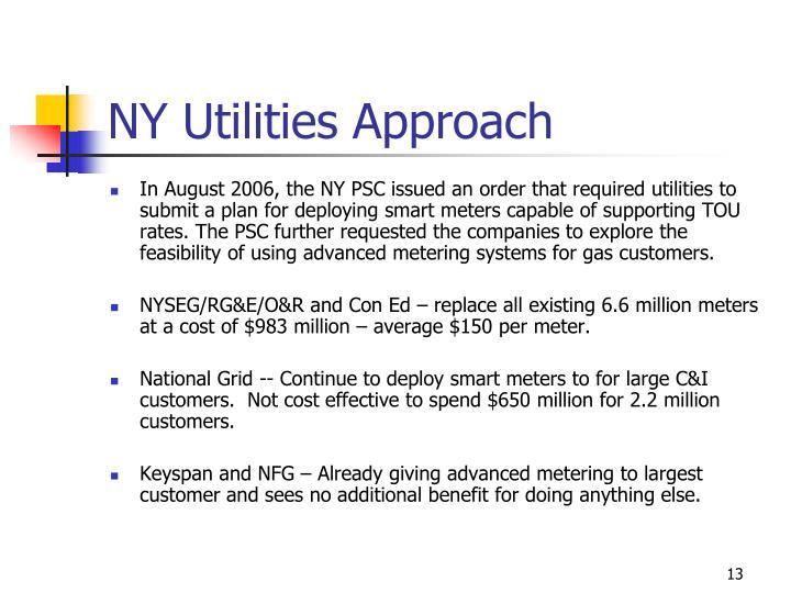 NY Utilities Approach