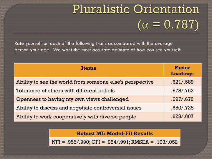 Pluralistic Orientation
