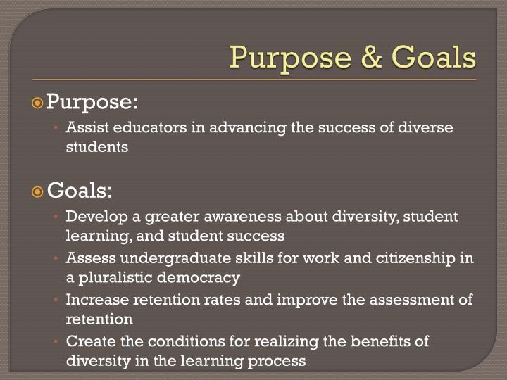 Purpose & Goals