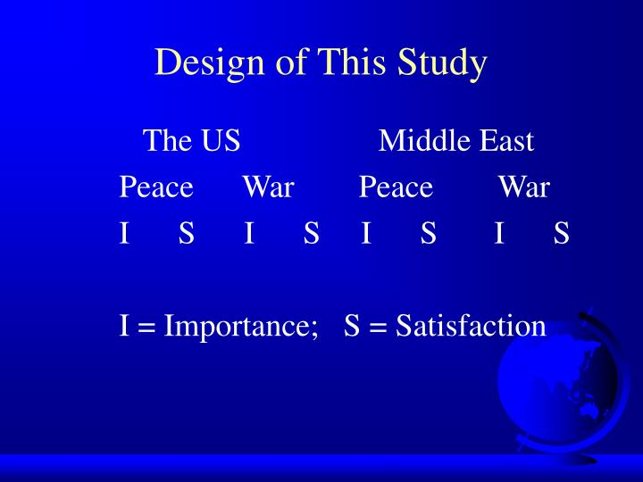 Design of This Study