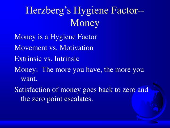 Herzberg's Hygiene Factor--Money