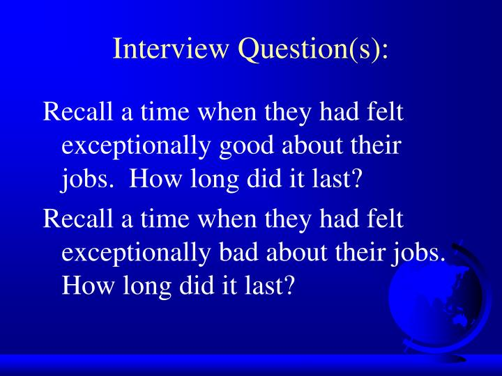 Interview Question(s):