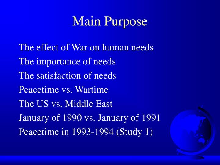 Main Purpose