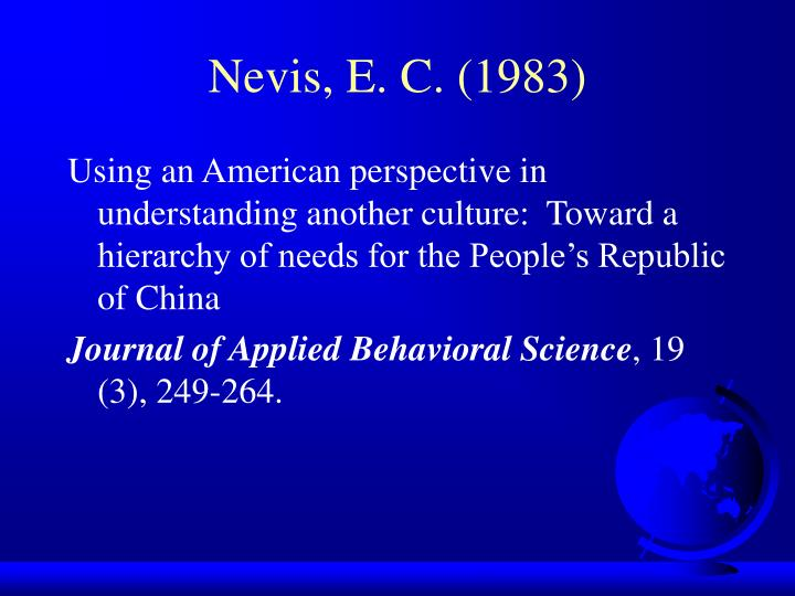 Nevis, E. C. (1983)
