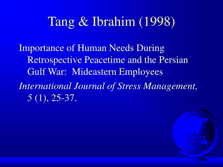 Tang & Ibrahim (1998)