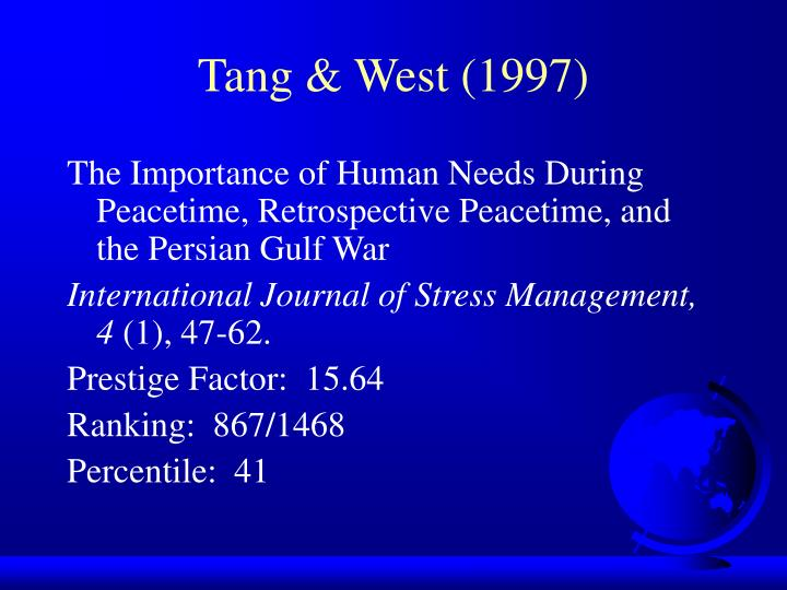 Tang & West (1997)
