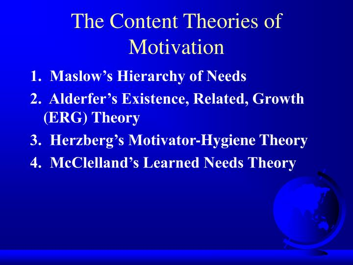 The Content Theories of Motivation