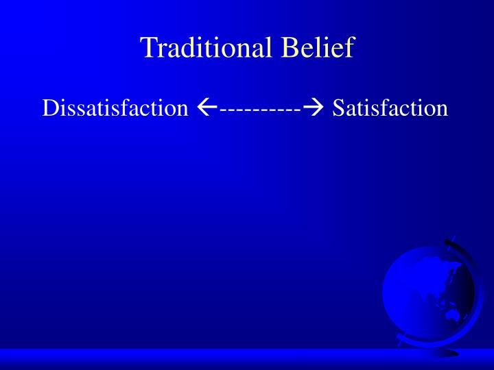 Traditional Belief