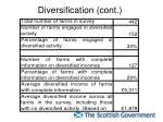 diversification cont