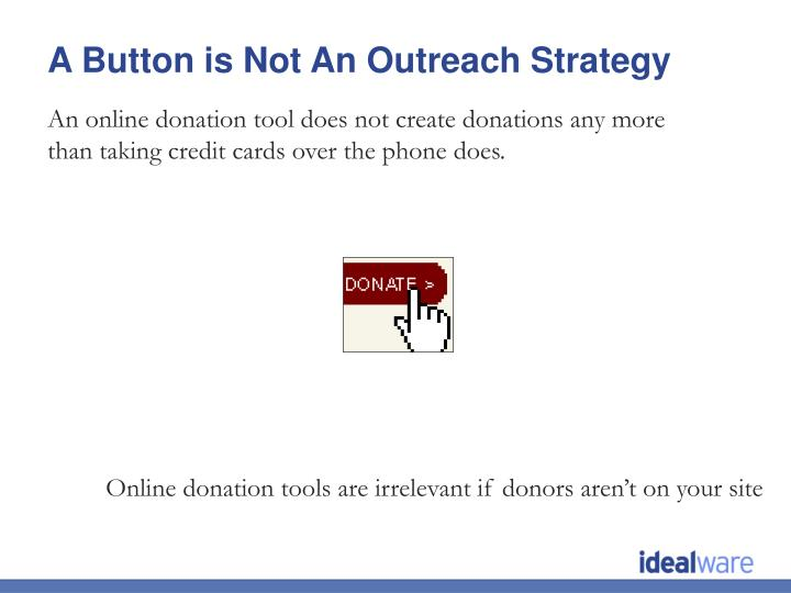 An online donation tool does not create donations any more than taking credit cards over the phone does.