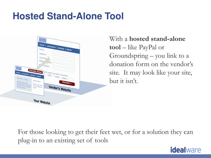Hosted Stand-Alone Tool