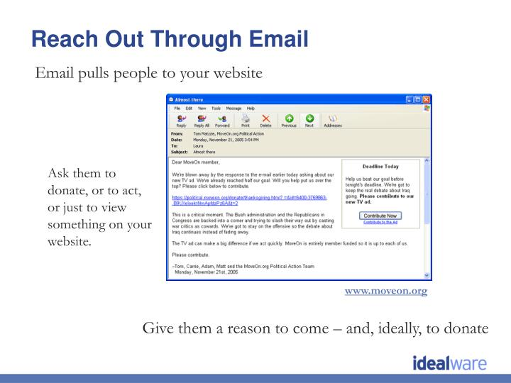Email pulls people to your website