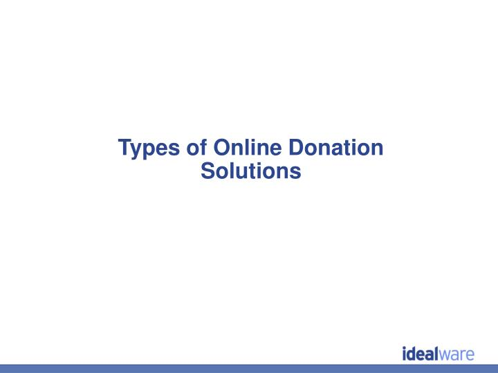 Types of Online Donation Solutions