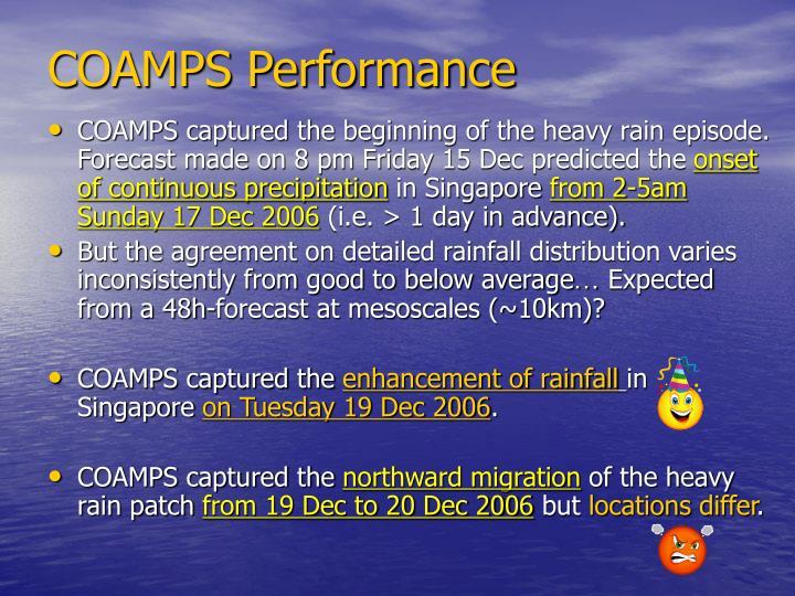 COAMPS Performance