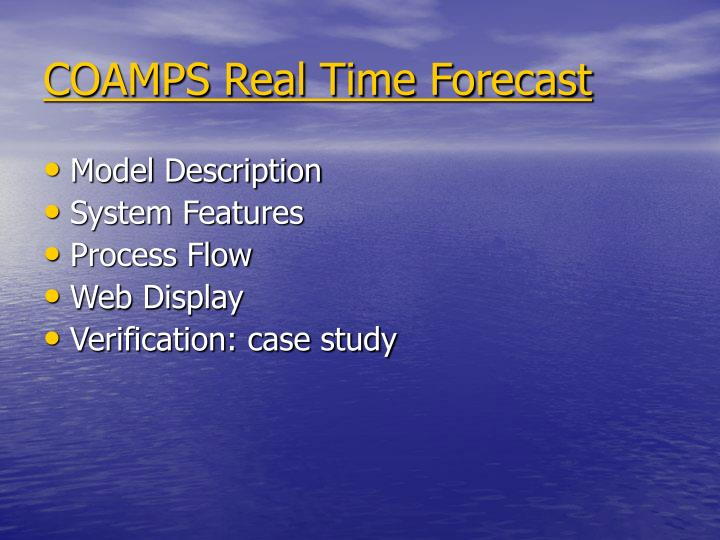 COAMPS Real Time Forecast