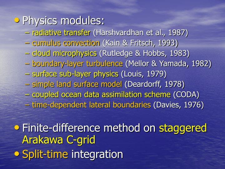Physics modules: