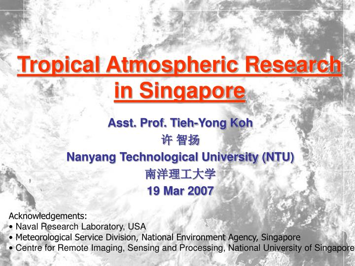 tropical atmospheric research in singapore