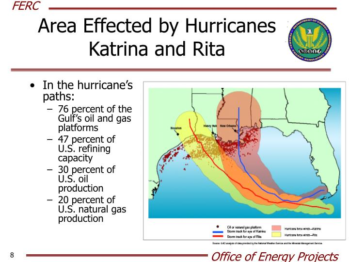 Area Effected by Hurricanes Katrina and Rita