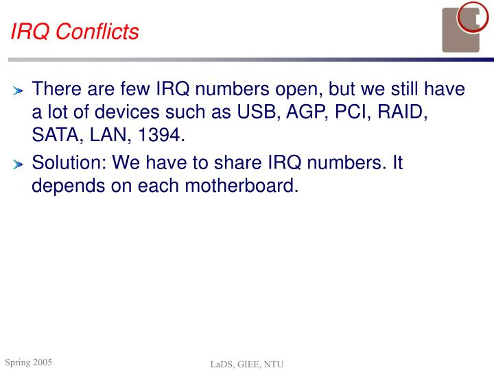 IRQ Conflicts