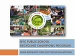 nyc public school recycling champions program