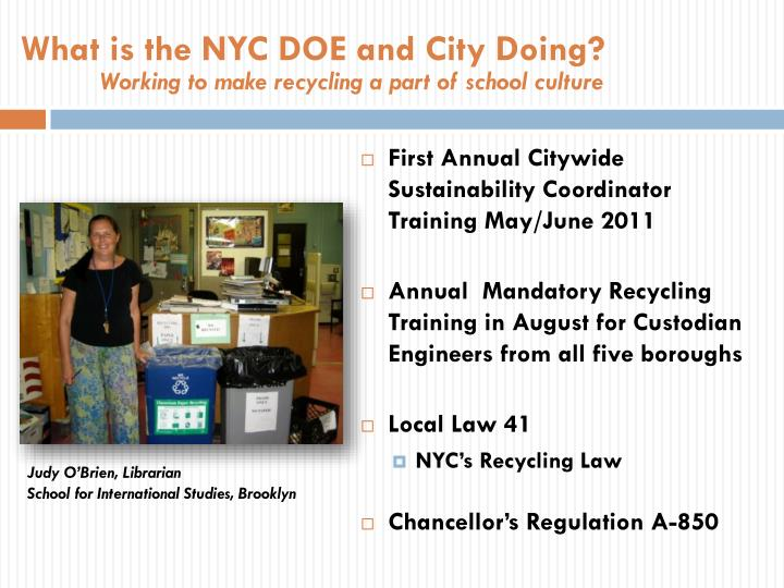 What is the NYC DOE and City Doing?