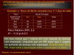 interpreta o do risco relativo oddsratio em perinatologia teste de hip teses14