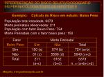 interpreta o do risco relativo oddsratio em perinatologia teste de hip teses9