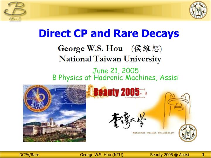 Direct CP and Rare Decays
