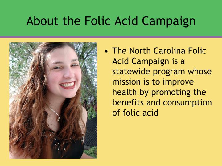 About the folic acid campaign