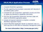 erln wla application process