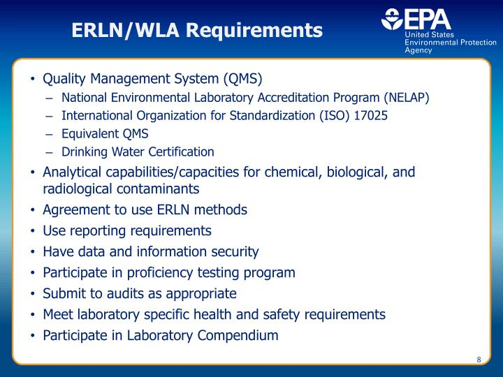 ERLN/WLA Requirements