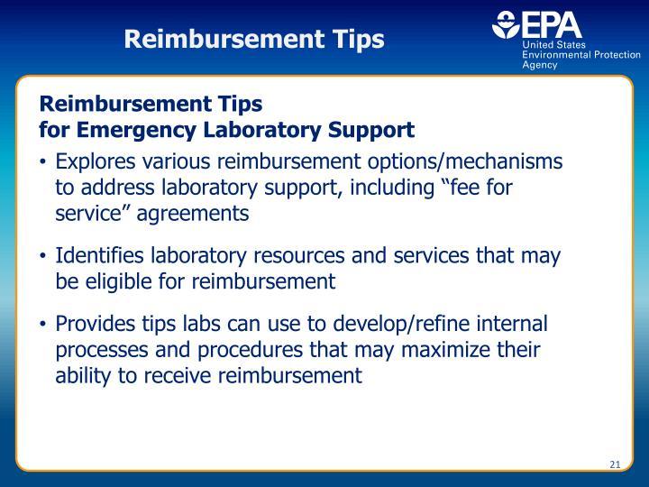 Reimbursement Tips
