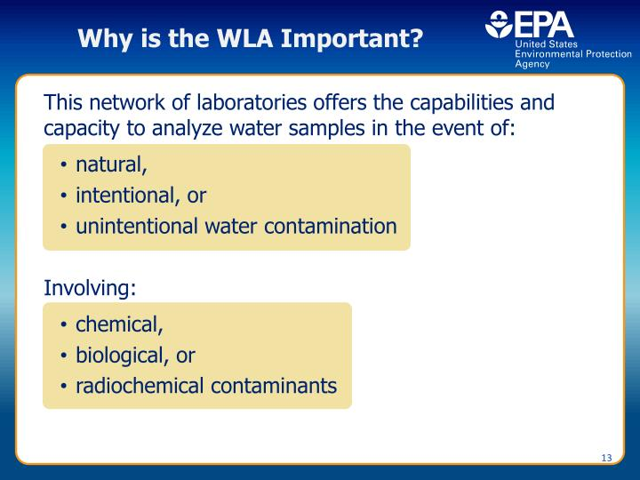 Why is the WLA Important?