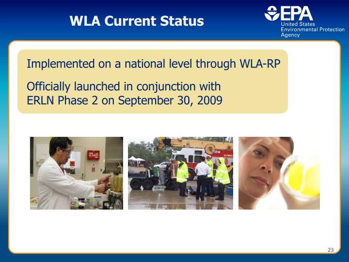 WLA Current Status