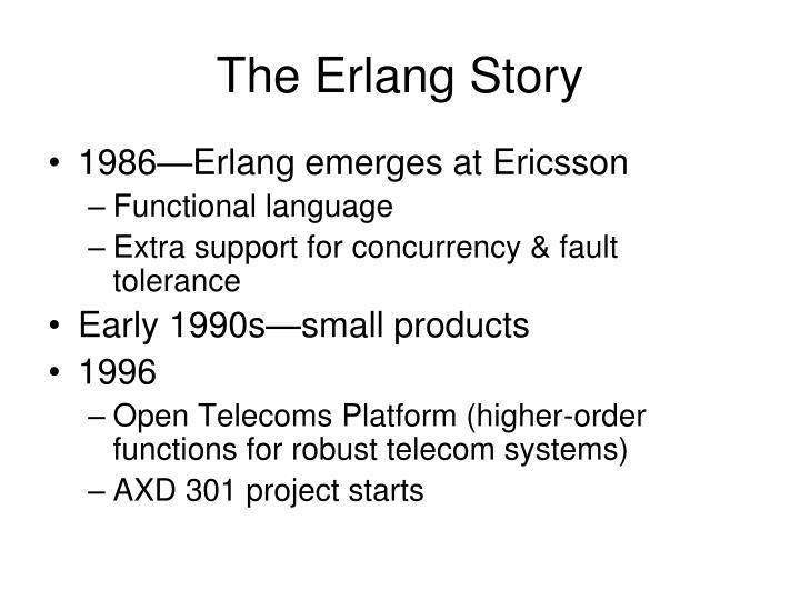 The Erlang Story