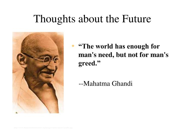 Thoughts about the Future