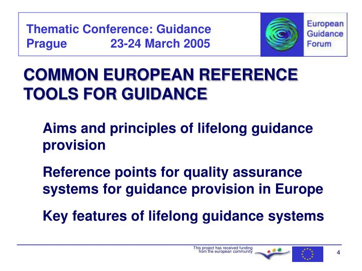 COMMON EUROPEAN REFERENCE TOOLS FOR GUIDANCE
