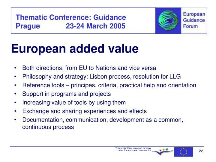 European added value